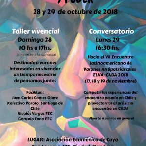 Taller y Conversatorio sobre Género, Masculinidades y Poder (24-10-2018)