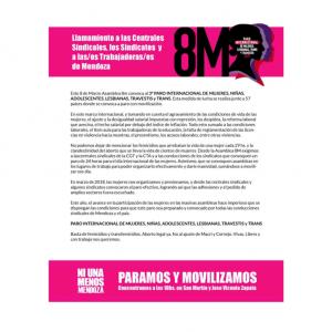 8M – 3er. Paro Internacional de Mujeres, Niñas, Adolescentes, Lesbianas, Travestis y Trans
