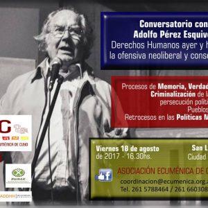 CONVERSATORIO con ADOLFO PÉREZ ESQUIVEL (14-08-2017)