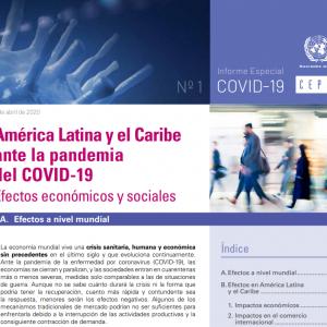 Informe de la CEPAL: América Latina y el Caribe ante la pandemia del COVID-19: efectos económicos y sociales